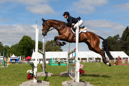 HOUGHTON, NORFOLKENGLAND - May 28th 2017: Houghton International Horse Trials 2017 Including cross country, eventing, show jumping and dressage at the top level