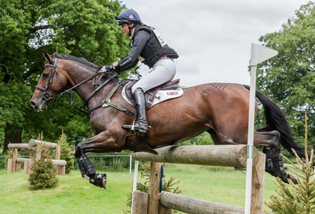 HOUGHTON, NORFOLKENGLAND - May 28th 2017: Houghton International Horse Trials 2017 Piggy French riding Vanir Kamira. Including cross country, eventing, show jumping and dressage at the top level