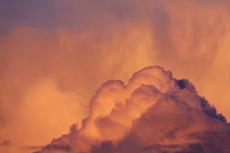 Wonderful dramatic clouds and sky background. Colorful nature landscape scene with cloudy skies at sunset