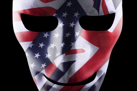 Mask with USA and British flags texture overlay Reklamní fotografie