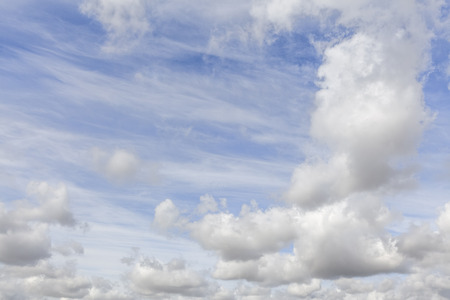 Great blue sky with white clouds background. No people or horizon nothing but sky. Reklamní fotografie