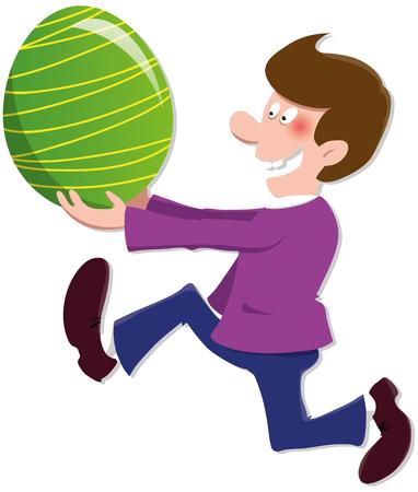 happy: happy easter Illustration