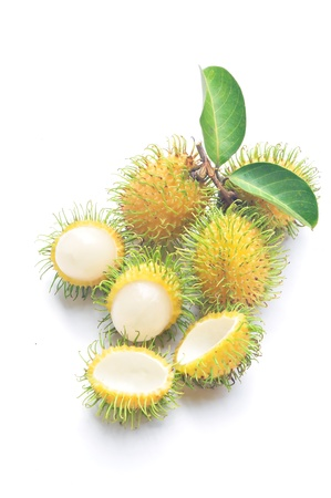 rambutan: Hairy Sweet Fruit Called Rambutan Stock Photo