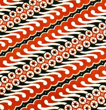 batik: Beau modèle de tissu batik javanais appelé Banque d'images