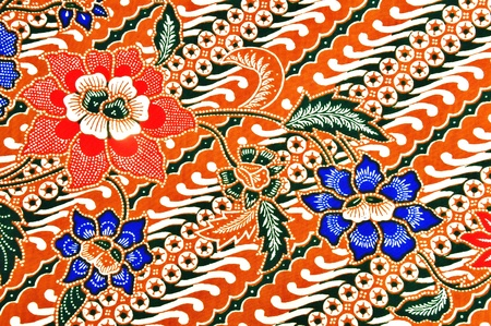 Beautiful traditional wearJavanese batik pattern