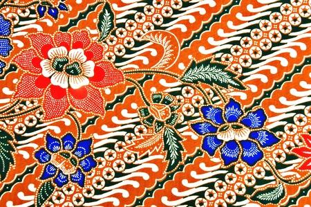 美麗的傳統wearJavanese蠟染圖案 版權商用圖片