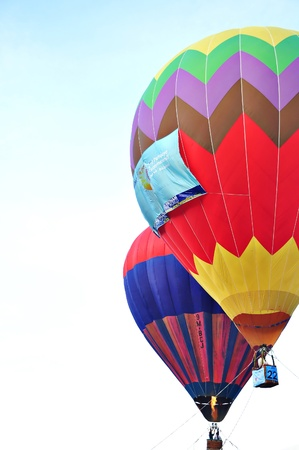 involves: PUTRAJAYA, MALAYSIA-MAR 23: Hot balloon events held in Putrajaya in March 2011. The competition involves participants from all over the country. In addition, the event also provides an opportunity for people to enjoy the view from the hot balloon. Over 20 Editorial