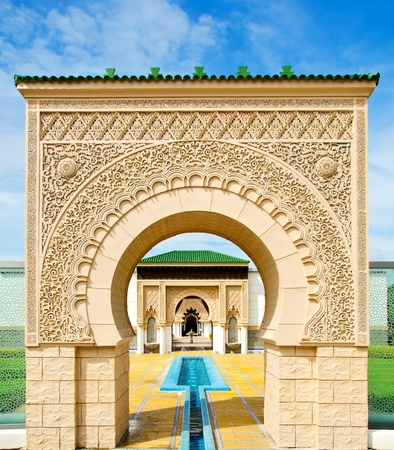 marrakech: Moroccan architecture at Putrajaya, Malaysia