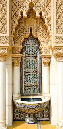 Moroccan architecture design Stock Photo