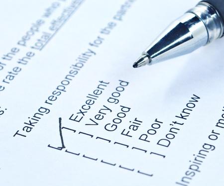 questionaire: Pen garrapata en forma de encuesta responsabilidad de la calidad