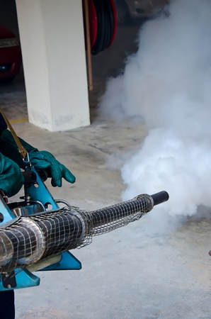 Fogging by the public health for dengue control photo