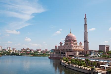 Putra Mosque at Putrajaya, Malaysia Stock Photo