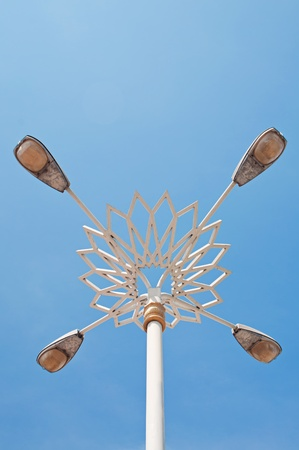 Street lamp and blue sky photo