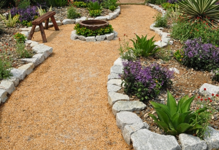 Garden landscape and relaxation photo