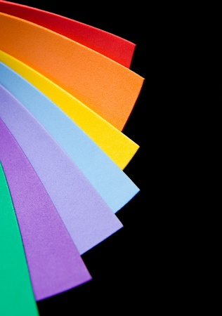 paper curl: Rainbow colorful paper for background