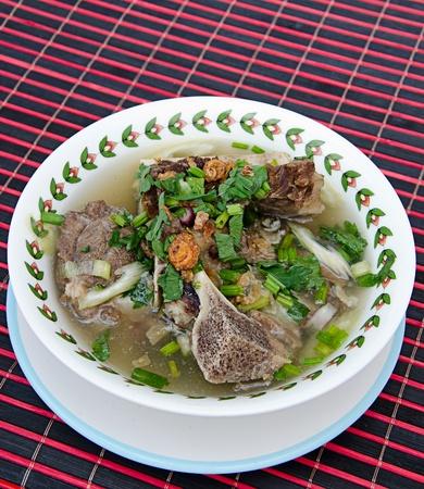 Cow bone soup photo