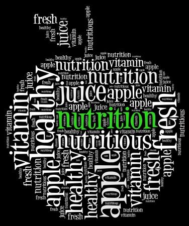 다이어트 사과 정보 텍스트 그래픽과 배열의 개념 스톡 콘텐츠