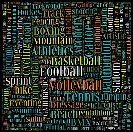 Various sport info-text graphics and arrangement concept vector  photo