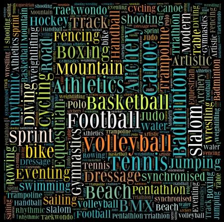 Various sport info-text graphics and arrangement concept vector Stock Photo - 15875670