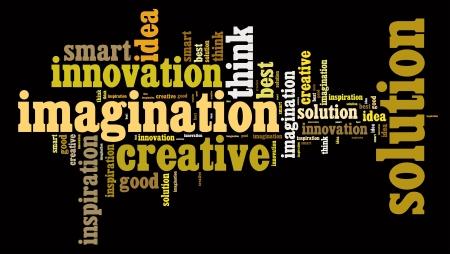 traits: Creative thinking traits text arrangement Stock Photo
