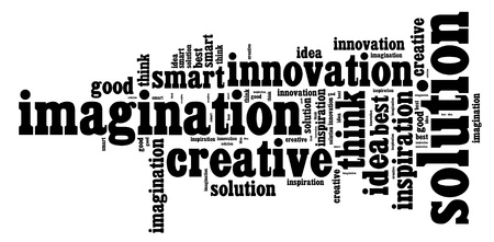 Creative thinking traits text arrangement Stockfoto
