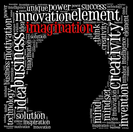 Creative thinking text cloud collage Stock Photo - 15875595
