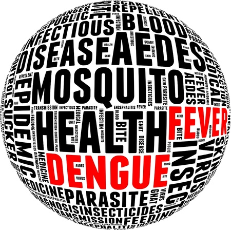 Dengue fever info-text graphics and arrangement with circle shape concept  Stock Photo - 15875591