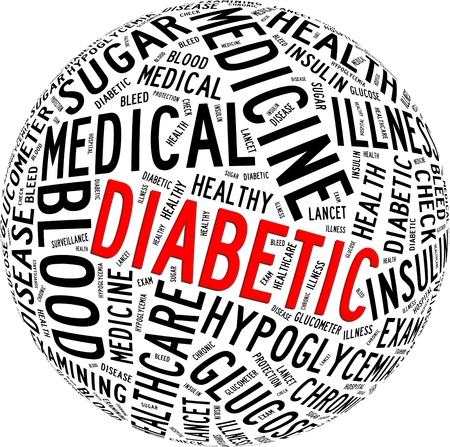 Diabetic health care info-text graphics and arrangement with circle shape concept  photo