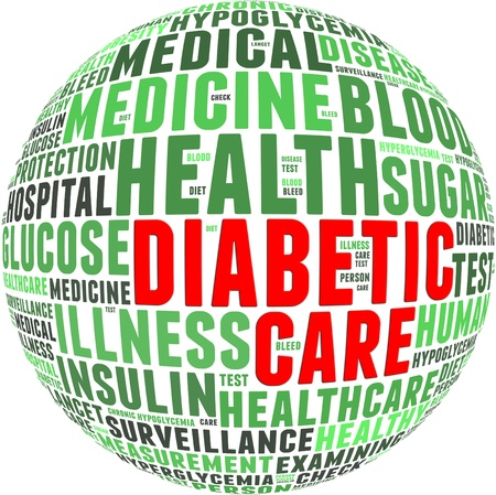 diabetic: Diabetic health care info-text graphics and arrangement with circle shape concept
