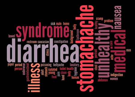 Diarrhea Symptoms Info text clouds on black background Stock Photo - 15874964