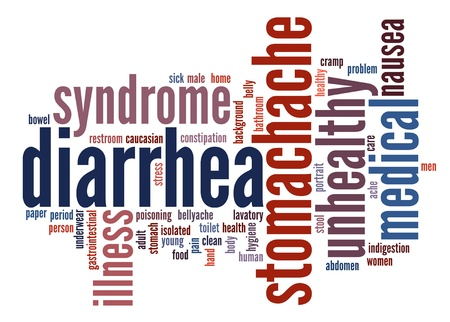 Diarrhea Symptoms Info text clouds Stockfoto