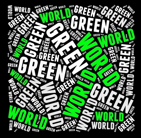 Green world info-text graphics and arrangement concept  Stock Photo - 15875654