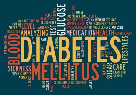 diabetes: Health-care diabetes info-text graphics and arrangement concept