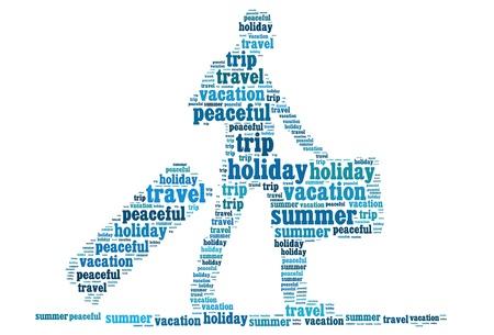 textcloud: Holiday travel info-text graphics and arrangement concept