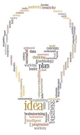 innovation word: Idea plan info-text graphics and arrangement  with bulb shape concept Stock Photo