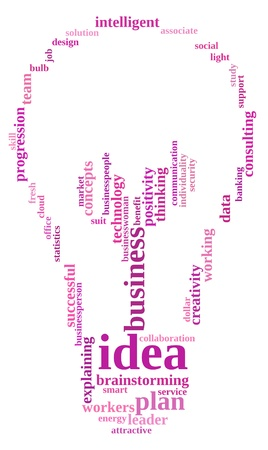 Idea plan info-text graphics and arrangement  with bulb shape concept photo