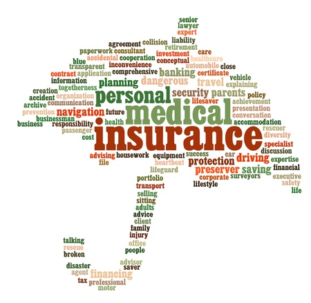 financial insurance: Insurance info-text graphics and arrangement concept
