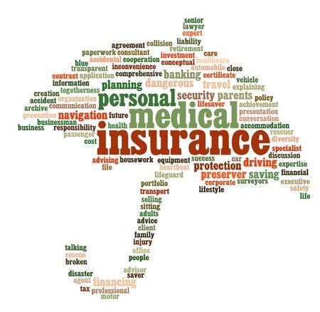 Insurance info-text graphics and arrangement concept