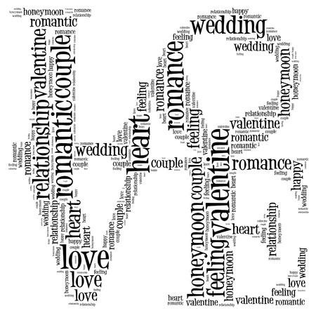 carta de amor: Amor Info-texto nube y disposici�n collage