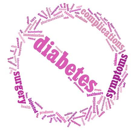 Diabetes info-text graphic and arrangement concept