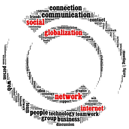 textual: Social network info-text graphics and arrangement concept
