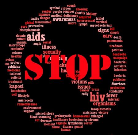 HIV AIDS info-text graphics and arrangement concept  Stock Photo - 15875245