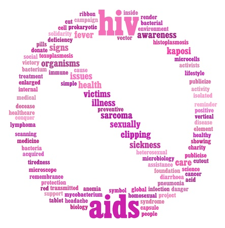 HIV AIDS info-text graphics and arrangement concept on white background Stock Photo - 15875096