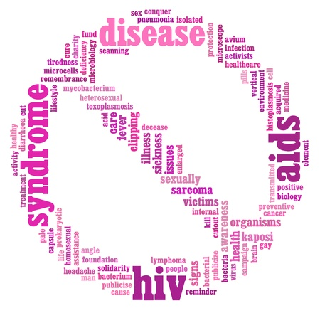 HIV AIDS info-text graphics and arrangement concept on white background Stock Photo - 15875088