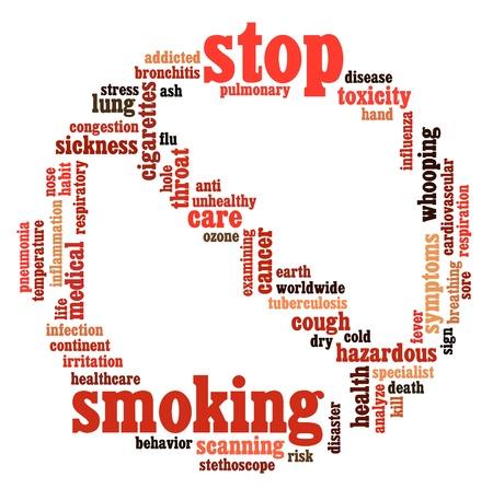 흰색 배경에 정보 텍스트 그래픽 및 배치 기호 개념 흡연 중지 스톡 콘텐츠