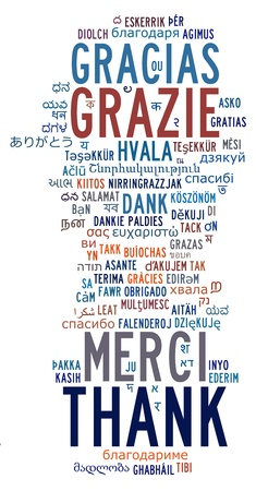 Various international language info-text cloud and arrangement