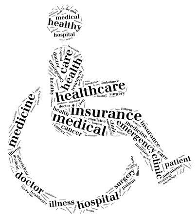 Medical info-text graphics and arrangement with wheelchair shape concept Stock Photo - 15874910