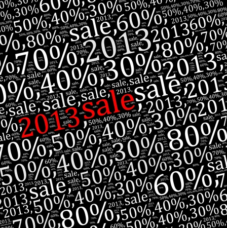 textcloud: 2013 sales discount info text graphics and arrangement