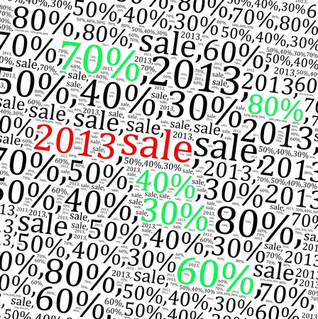 2013 sales discount info text graphics and arrangement  photo