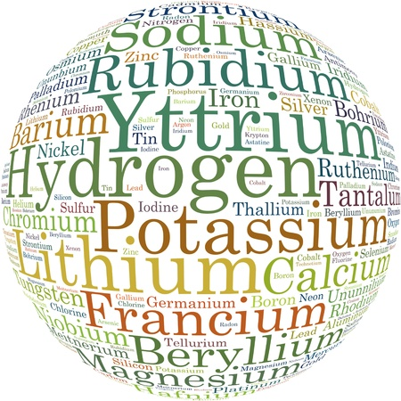 Chemical element info text graphics and arrangement Stock Photo - 16109562